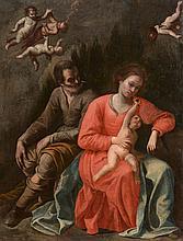 Circle of Antonio de Bellis (1616-1657) - Rest on the Flight into Egypt
