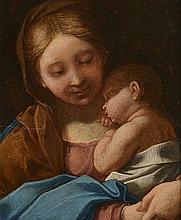 Follower of Correggio (1489-1534) - Madonna and Child