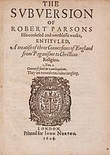 ] The Subversion of Robert Parsons His confused and worthlesse worke
