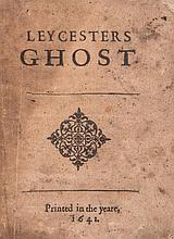 Leycesters Ghost, only edition, woodcut ornament on title, soiled, lacks last f