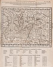 Latin. Biblia Sacra, 1 vol. in 3, double column, 3 folding woodcut maps