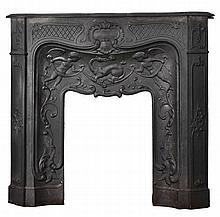 A French cast iron chimneypiece in 'Pompadour' Rococo style, 19th century