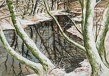 Christopher Richard Wynne Nevinson (1889-1946) - Woodland Stream