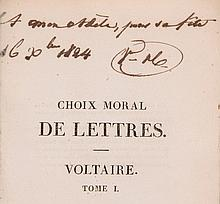 Choix Moral de Voltaire, vol.1 only, introductory essay by Victor Hugo
