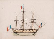 Lebel (Amedée) - Recueil de Vaisseaux de differentes Grandeurs, Manoeuvres de barques et [de] bateaux,