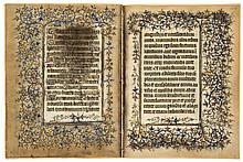 Six leaves from the Chester Beatty Hours of 1408, - in Latin, illuminated manuscript on parchment [Paris