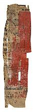 Frisket fragment, - a cutting from a liturgical manuscript with music