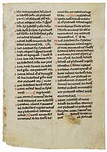 Collection of leaves and fragments of - leaves from medieval manuscripts , in Latin