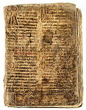 Leaves from a liturgical volume, probably a Missal - Missal or Lectionary, in Glagolitic, from a decorated manuscript...