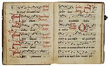 Pocket monastic Antiphoner, - in Latin, decorated manuscript on paper [Germany or Low Countries