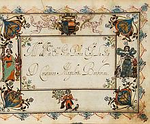 Scribal album, made for the Barbarini family, - illuminated and decorated manuscript in Italian, on paper [Italy