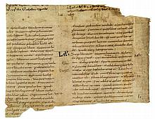 Isaiah, fragment of a leaf from a monumental - Carolingian Bible, in Latin, on parchment [probably France