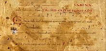 Single leaf and a bifolium - from early musical manuscripts, in Latin, on parchment [eleventh...