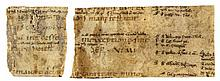 Strip from a very early copy of Corpus - Iuris Civilis , manuscript in Latin on parchment [probably France...