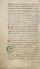Two leaves from a Lectionary, - in Latin, decorated manuscript on parchment [northern France or...