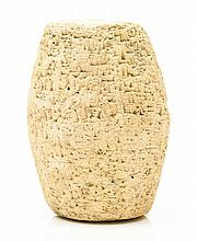 King Sin-Iddinam of Larsa, - declaration of his deeds and power, on a large cuneiform clay...