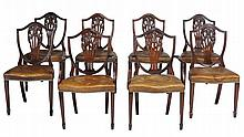 A set of eight dining chairs in George III style , 19th century