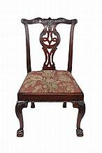 A George III mahogany side chair , circa 1770