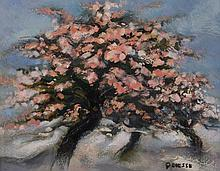 French School - Trees in blossom