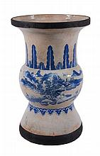 A Chinese blue and white vase, 19th century