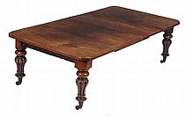 A Victorian mahogany extending dining table , circa 1860