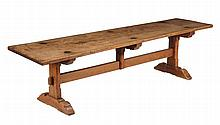 An ash and oak refectory table, in 16th century style, 19th century