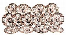 A Royal Crown Derby 'Imari' pattern part service, 1901, printed and painted