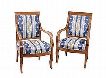 A pair of Louis Philippe mahogany armchairs, circa 1840