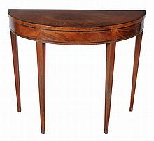 A George III mahogany and rosewood banded side table , circa 1790
