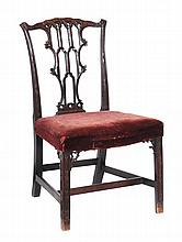 A George III mahogany side chair , circa 1770, in the manner of Chippendale