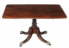 A George III mahogany dining table , circa 1790