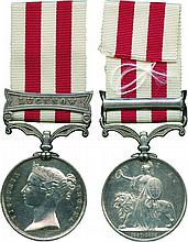 INDIAN MUTINY MEDAL, 1857-1858, single clasp, Lucknow ; officially impressed