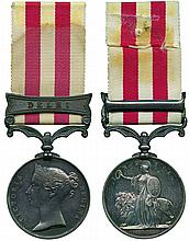 INDIAN MUTINY MEDAL, 1857-1858, single clasp, Delhi ; officially impressed