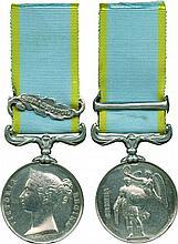 CRIMEA MEDAL, 1854-1856, single clasp, Sebastopol ; officially impressed
