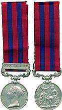 INDIA GENERAL SERVICE MEDAL, 1854-1895, single clasp