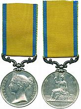 BALTIC MEDAL, 1854-1855 ; contemporary engraved naming