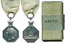 ARCTIC MEDAL, 1818-1857, unnamed as issued