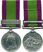 A Scarce Maiwand Survivor's Afghanistan Medal awarded to Farrier-Sergeant...