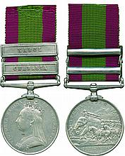 AFGHANISTAN MEDAL, 1878-1880, 2 clasps, Charasia