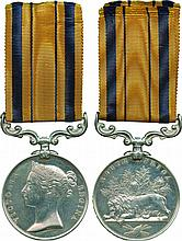 SOUTH AFRICA MEDAL, 1877-1879, no clasp ; officially engraved in slanting...