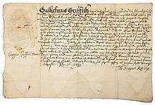 Charter for William Griffiths, - countersigned by Bishop George Griffiths of St