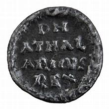 Athalaric, king of the Ostrogoths in Italy, - quarter siliqua, silver coin with Latin inscription [Italy