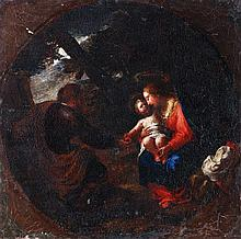 Circle of Francesco Albani, The Holy Family, Oil