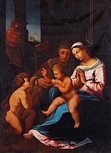 Manner of Raphael, The Holy Family with St. John