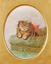 Horatio Henry Couldery (1832-1918), A kitten on a