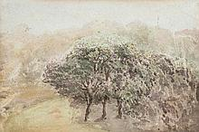 John Absolon (1815-1895), Trees from window