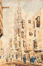 Lieutenant H. King (19th Century), Street scene,