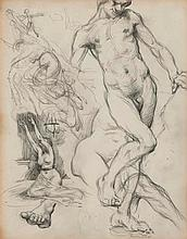DDS Sir William Orpen (1878-1931), Sheet of sketches,