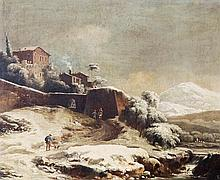 Circle of Francesco Foschi, Winter landscape with