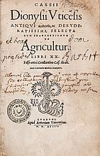Agriculture.- Dionysius (Cassius) - de Agricultura libri XX,